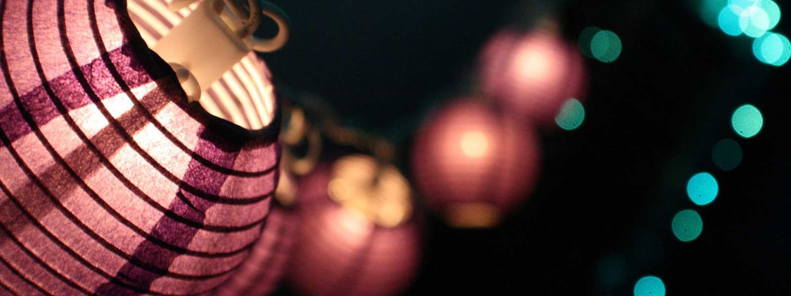 chinese lighted paper lanterns